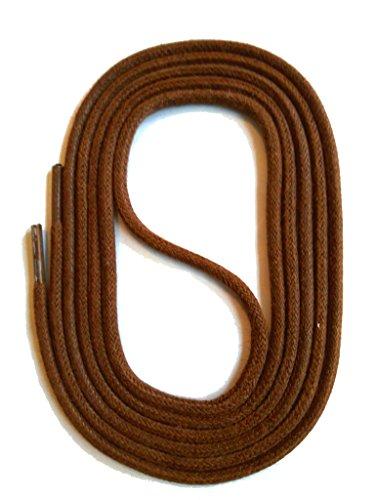 SNORS gewachste Schnürsenkel RUND BRAUN 110cm, 3mm, reißfest, Rundsenkel aus Baumwolle Made in Germany für Lederschuhe, Herrenschuhe, Business-Schuhe, Damenschuhe