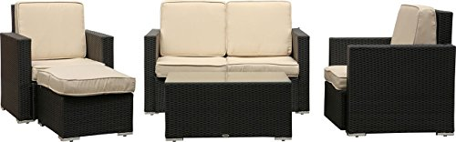 IB-Style - Premium Sitzgruppe Saphir | 2 Farben wählbar | schwarz blackcord oder bicolor browncord...