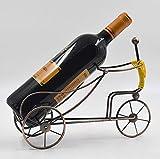 Yarmy Estante del Estante del Vino Rojo para el Banquete de la Boda Restaurante Home Bar Tenedor del Vino Bronce/Golden Bicycle Shaped Tabletop Wine Tablet Holder Metal