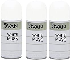Jovan white musk deodorant spray men - For Men (150 ml) Pack Of 3