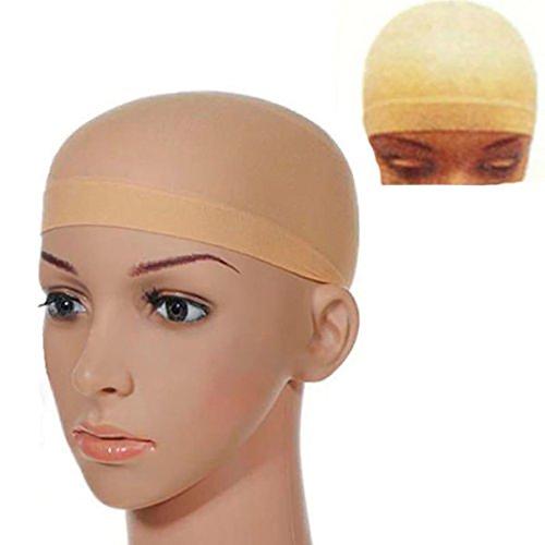 globaldeal Direct 2Unisex Elastic perückenkappen klebefreien Haar Mesh Net rutschsicher Stretch Nylon Snood Pack of 2 (Extra Große Dusche-kappe Für Frauen)