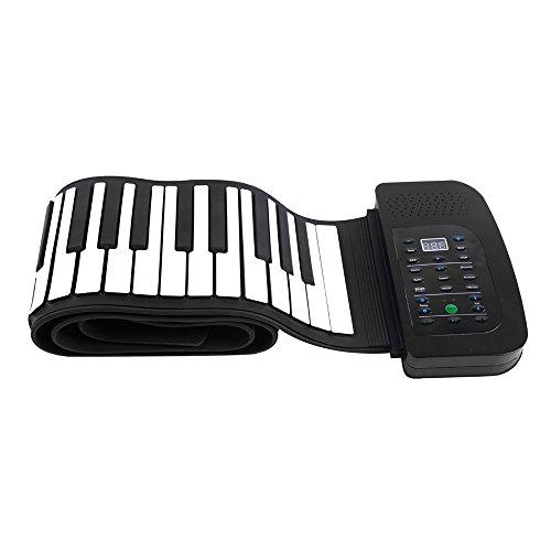 WLIXZ Tragbares Klavier mit 88 Tasten, aufrollbares Klavier, Faltbare Tastatur Handaufrollendes Klavier mit Sustain-Pedal