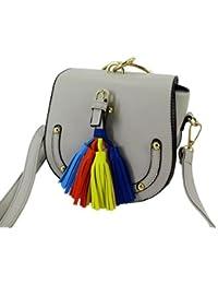 Women's Stylish Grey Handbag With Removable Strip By Datuk