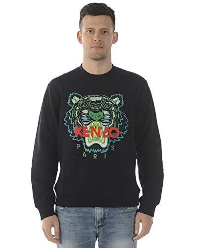 Kenzo Tiger Gesicht Sweatshirt weiß & grün Black Meduim