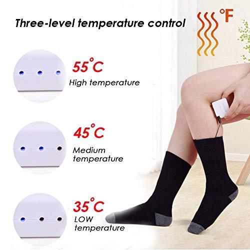 LeKing Calcetines cálidos Recargables, Calentadores de Temperatura Ajustables para Calentar la batería, Unisex