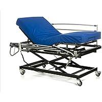 GERIALIFE® Cama articulada geriátrica hospitalaria con carro elevador (90x190 con barandillas y colchon)