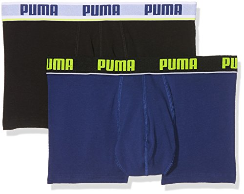 Puma Herren Basic Stripe Elastic Trunk 2p Unterwäsche blue/Black