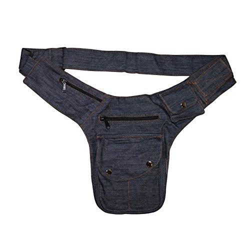 Freak Scene® Tasche ° Gürteltasche ° Buddy ° Bauchtasche ° Hüfttasche, alle Farben!!! Jeans blau