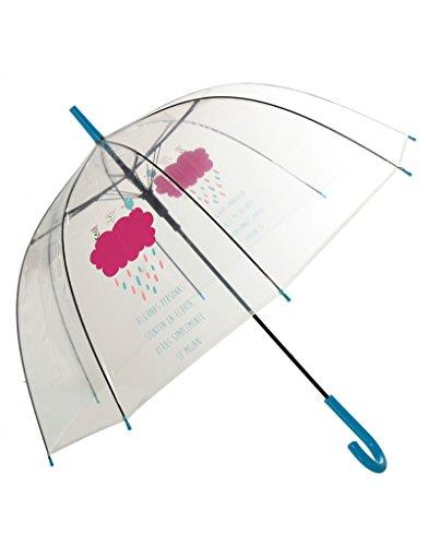 Hogar Mas Paraguas Burbuja Transparente Original Frase