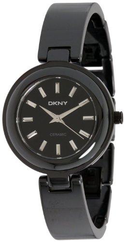 DKNY Women's NY8549 Black Ceramic Quartz Watch with Black Dial