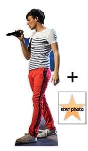 Louis Tomlinson (One Direction) Personnage Découpé Dans Du Carton / Silhouette En Carton: Grandeur Nature / Standee / Stand-Up - Avec Star Photo (Dimensions 15x10 Cm)