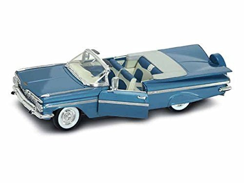 1959-chevy-impala-convertible-1-18-blue-by-chevrolet