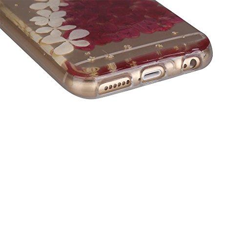 """iPhone 6s Schutzhülle, iPhone 6 Soft TPU Handytasche, CLTPY Modisch Durchsichtige Rückschale im Getrocknete Blumenart, [Stoßdämpfung] & [Kratzfeste] Full Body Case für 4.7"""" Apple iPhone 6/6s + 1 Stylu Floral 36"""