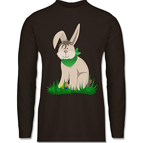 Ostern - Osterhase - Longsleeve / langärmeliges T-Shirt für Herren Braun
