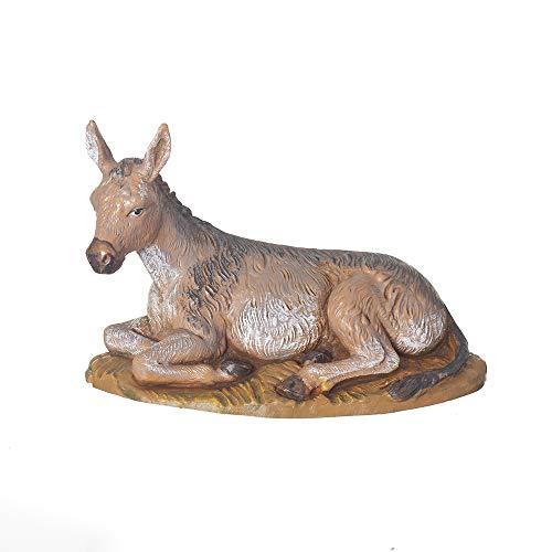 Roman Römischen 19,1cm sitzender Esel Krippe Figur Fontanini -