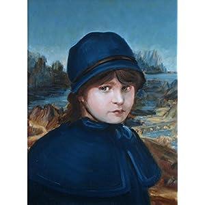 'Mini Lisa' von Valenti aus Irland, gerahmtes Oelgemaelde, original - 53 x 43 cm. KOSTENLOSER VERSAND