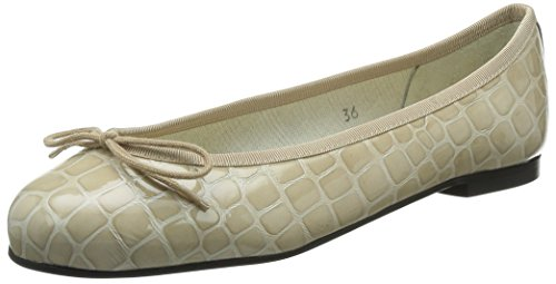 French Sole - Ballerine Henrietta Crocodile Effect, Donna, Beige (beige), 40
