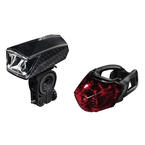"""Hama LED Fahrradlicht Set """"Profi"""" (Frontlicht + Rücklicht, Fahrradlampe zugelassen im Straßenverkehr nach StVZO, inkl. Batterie und Halterung, abnehmbar) schwarz"""