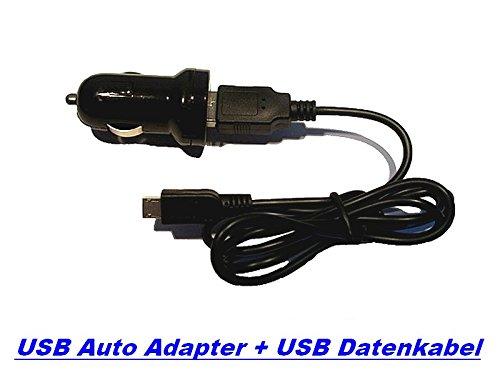 3in1 V8 SET USB Auto Ladegerät + USB Micro Datenkabel / Ladekabel von GiXa Technology Universal 1000mAh Ersatz Datenkabel / Ladekabel / PC Ladegerät + KFZ Auto Ladegerät passend für Nokia