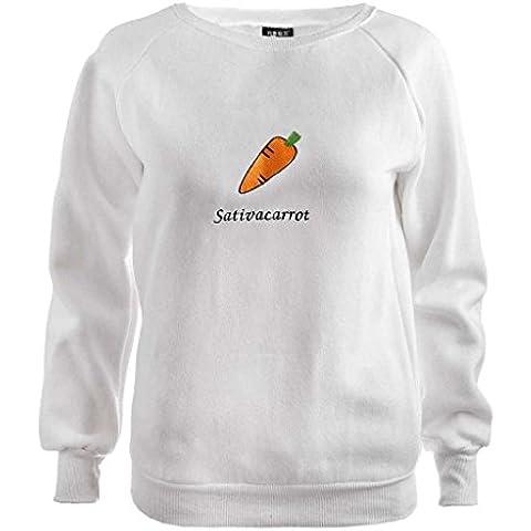 Jiayiqi Tapas Las Mujeres Vegetales Impresión Flojas Sudadera Fleece Jersey Camisas