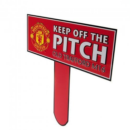 Man Utd Keep Off The Pitch Sign (31x30cm) - One Size