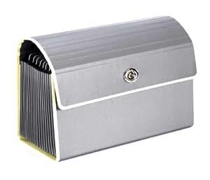 Petit Dossier Accordéon avec fermeture en métal gris anthracite +++ DOSSIER +++ qualité originale Semikolon