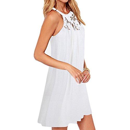 f43633130f7 Kleider SANFASHION Damen Frauen Sommer ärmelloses Kleid Bodycon  Abendgesellschaft ...