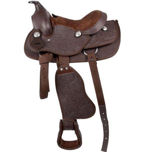 """Waldhausen Synthetic Western Sattel für Pony, braun, 12\'\'/30 cm, braun, 12\""""/30 cm"""