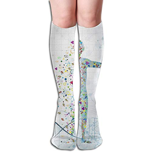 SDFGSE Tube High Keen Sock Boots Crew Medicine Compression Socks Long Sport Stockings -
