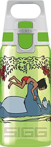 Sigg VIVA ONE Junglebook, Kinder Trinkflasche, 0.5 L, Polypropylen, BPA Frei, Grün Kinderflasche, 0.5 Liter