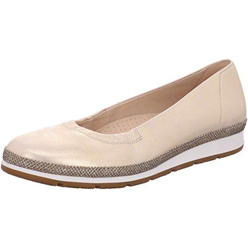 Gabor Shoes Damen Comfort Geschlossene Ballerinas, Silber (Platino (Glamour) 64), 39 EU