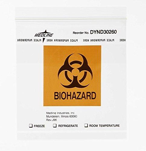 medline-dynd30260-zip-style-biohazard-specimen-bags-plastic-latex-free-6-length-6-width-clear-by-med