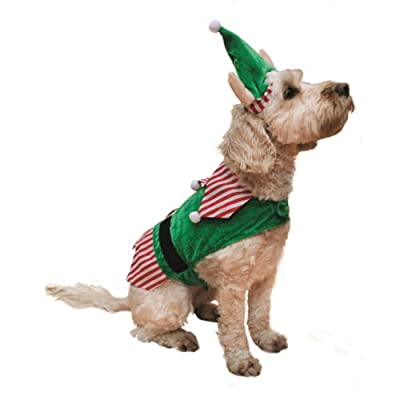 Rosewood Christmas Novelty Elf Costume for Dogs,