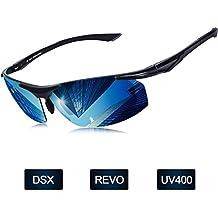 Elegear Gafas de Sol Hombre Polarizadas Gafas Ciclismo Anti Rayos UVA Marco  Aleación de Aluminio 5207ad2e3ac7
