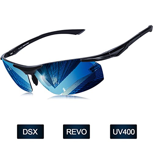 Мужские солнцезащитные очки Polarized Elegear 2018 Очки летние polaroid анти UVA лучи Рамка из алюминиевого сплава, магния и TR90 линзы Зеркало с анти-маслом REVO Очки мужчина и женщина Велоспорт Бег Mtb Moto Mountain Ski - Синий