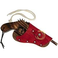 Juguetutto - Pistola de madera con funda ROJA - Juguete de madera