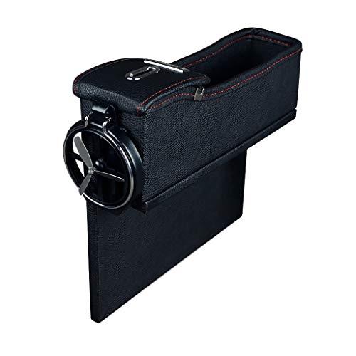 Dtuta Multi-Funktions-Aufbewahrungsbox bequem und schön und langlebig praktische Leder Box Auto Ersatzbox Sitz Schlitz Aufbewahrungsbox