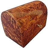 Large Fine Handmade Cedar Wooden Jewellery Box Lockable Wooden Chest Design With Tray Cream Velvet Lined