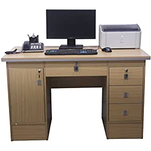 Computer Desk In Beech Clr With 3 Locks For Home Office Office Furniture 617