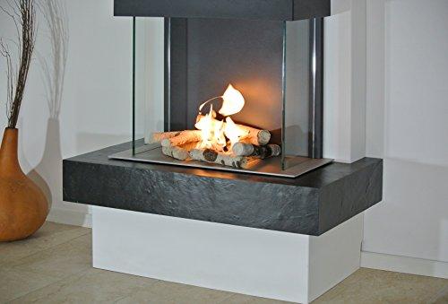 muenkel-Design-Prato-Chimenea-elctrica-opti-myst-CALOR-Blanco-esquisto-Beige-Tapa-NEGRO-GRIS-sin-calefaccin-80cm