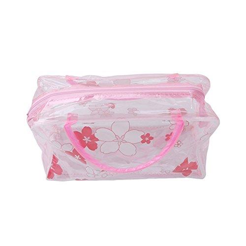 ODN PVC Transparent etanche multifonction sacs cosmetiques Rosa