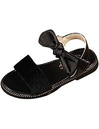 ecded95a7f047 Malloom Verano Niños Niñas de Leopardo de Color Sólido Gamuza Sandalias  Playa Zapatos ...