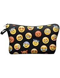 Alcoa Prime Cosmetic Makeup Toiletry Travel Wash Bag Purse Holder Pouch Set Gift Emoji