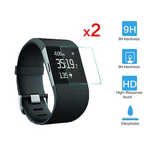 HZY 2x Premium HD chiaro temperato Glass Screen Protector per Fitbit Surge Fitness Superwatch