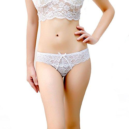 Meiye Lace Breathable Nahtlose Thong Für Frauen Sexy und Mode Low Rise Thong Unterwäsche Schlüpfer Weiß
