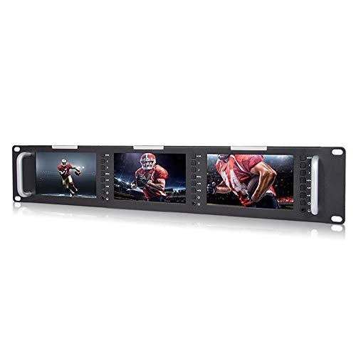 LFTS Videomonitor Direktor DSLR-Feldmonitor Full HD 3 x 5 Zoll LCD-Bildschirm mit LED-Hintergrundbeleuchtung 800 × 480 Auflösung 500 cd / m2 Helligkeit 500: 1 Kontrast 140° 120°breiter -