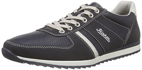 Rieker 19345 Sneakers-men Herren Low-Top Blau (navy/atlantis/ice / 16)