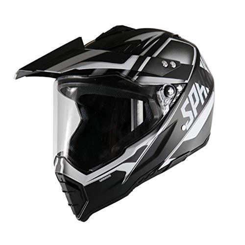 Kostüm Racing Männer - LJ-GJ Outdoor Radfahrer Kostüm- Motorradhelm - Full Face Racing Motorradhelm mit Antibeschlagspiegel Erwachsene Männer und Frauen