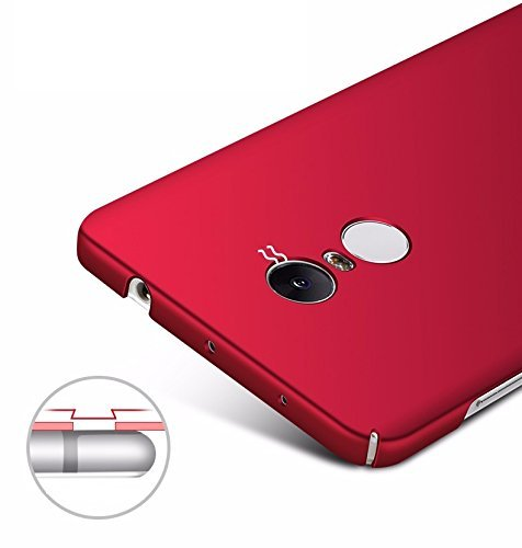 pretty nice faf26 5b0ae BRAND FUSON 360 Degree Full Body Protection Front & Back Case Cover iPaky  Style with Tempered Glass for Xiaomi Redmi Note 4 (RED)