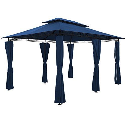 Deuba - Tonnelle Topas • Bleu • 4x3 m • Pavillon, Tente de Jardin, Barnum, Extérieur Fête • Tonnelle de Jardin - terrasse